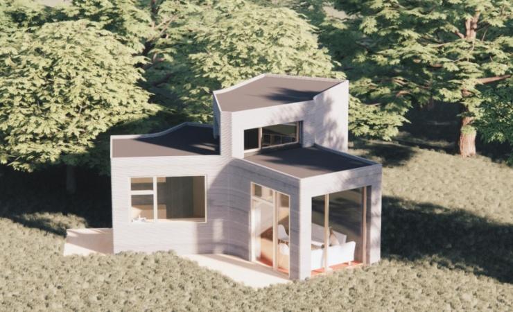 3D-printet hus skyder op i Holstebro