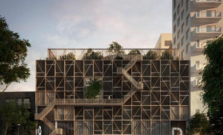 P-hus får facader af ålegræs og tagfarm på taget