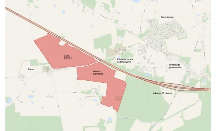 Nyt erhvervsareal langs Fynske Motorvej giver 250 arbejdspladser til vestfyn