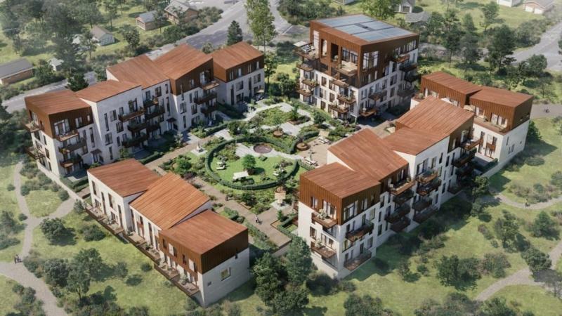 Hospitalsgrund bliver til 133 DGNB-Guld-boliger