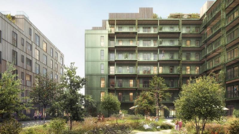 Nu skyder 'et af verdens mest bæredygtige byggerier' op i Ørestad