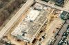 Rigshospitalets nye parkeringshus, der her ses fra luften, opføres i hovedentreprise af LM Byg A/S og bliver færdigt til sommer.