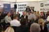 De fire paneldeltagere debatterede fremtidens byggeri og ejendomme i Dansk Arkitektur Centers telt under Folkemødet. Foto: Torben Jastram.