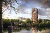 På de to øverste etager i det 70 meter høje tårn placeres fire luksuriøse penthouselejligheder i to etager på hver 250 kvadratmeter. Visualisering: Årstiderne Arkitekter.