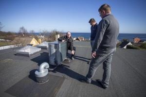 Varmepumper på taget