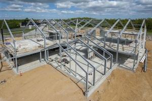 Nyt hus bæres af 180 ton komplekse stålkonstruktioner