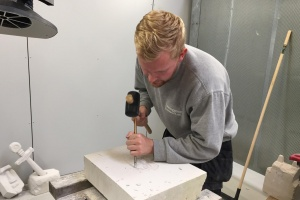 Learnmarks nye stenhuggerelever godt i gang