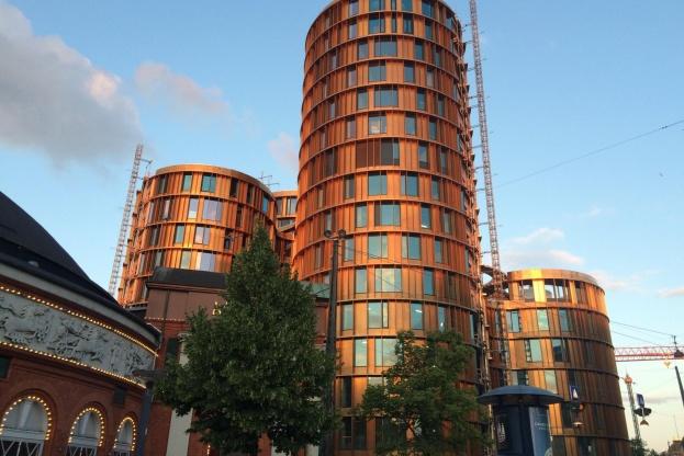 Det indvendige tømrerarbejde på Axel Towers har stået stille i forbindelse med en arbejdskonflikt. Foto: Kristian Troelsen.