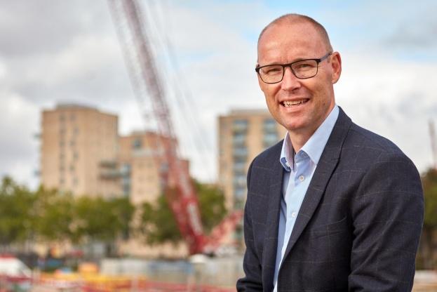 Hans Anker Nielsen, adm. direktør i LM Byg, vil vækste 20 procent om året ved at hente flere markedsandele inden for råhus- og hovedentrepriser. Pressefoto.