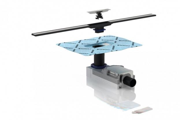 CleanLine har fastmonteret vådmembran i afløbsskålen, og det gør installeringen nemmere.