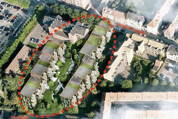 Tidligere kommunale administrationsbygninger i Valdemarsgade bliver til private lejligheder.