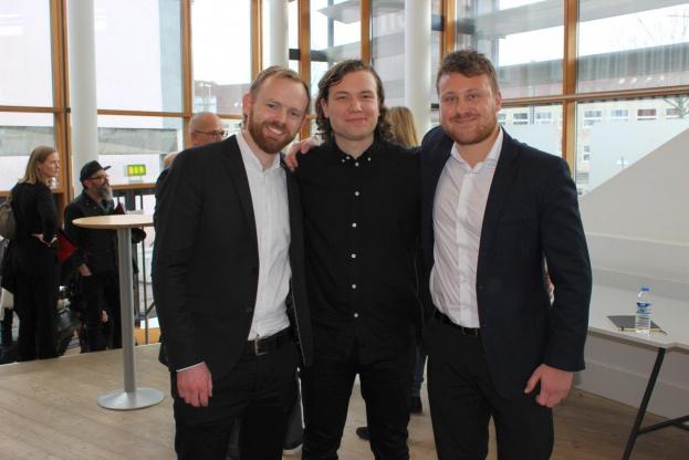 Brian Vargo, Jonas Snedevind Nielsen og Mathias Palle skal tegne den nye arkitektskole i Aarhus. Foto: Kristian Troelsen.