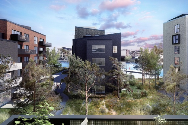 Til sommer afslutter MT Højgaard byggeriet af Frederikskaj 2.