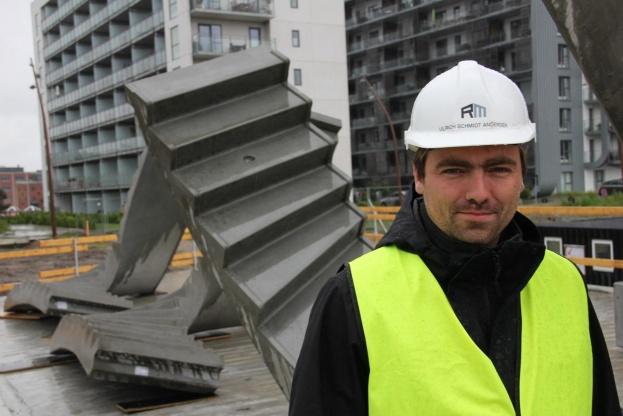 Ulrich Andersen er entrepriseleder på Landemærket, der opføres i Promenadebyen i Odense. Foto: Torben Jastram.
