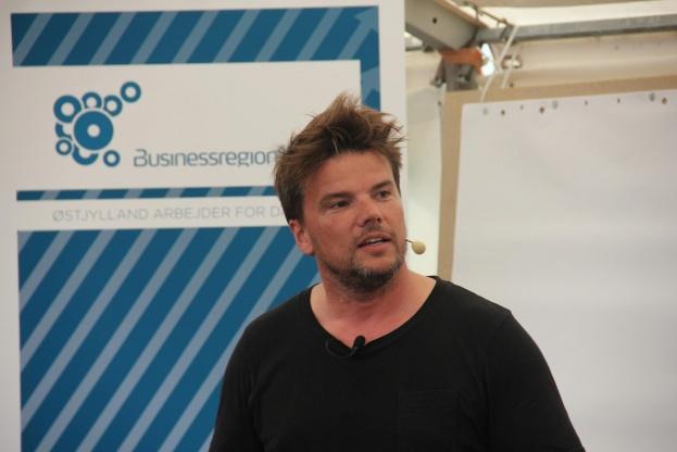 Bjarke Ingels var torsdag eftermiddag inviteret til Folkemødet af Business Region Aarhus. Foto: Torben Jastram.