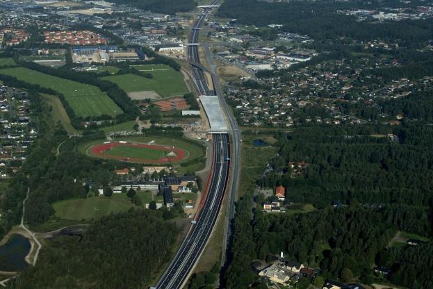 Silkeborg Kommune vil have det maksimale ud af motorvejen gennem byen, der efter mange års planlægning nu står færdig. Foto: Silkeborg Kommune.