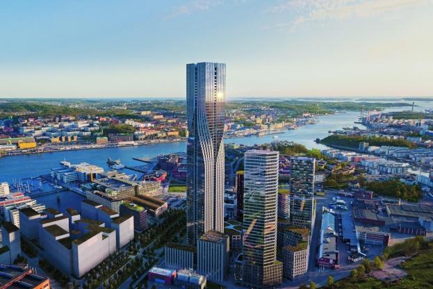 Den 245 meter høje bygning skal stå færdig om fire år.