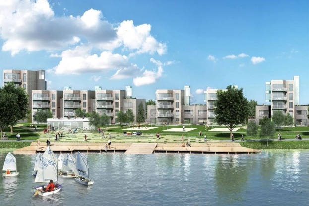 Sådan kommer de nye boliger til at tage sig ud. Visualisering: Gröning Arkitekter.