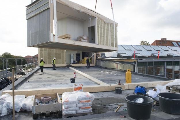 12.000 kvadratmeter campus ombygget på seks måneder