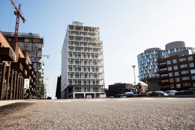 Renoveret silo i Nordhavn får intelligente hjem