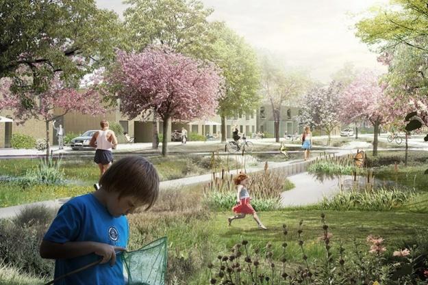 Parkstrøg sikrer byggeaktivitet i Nærheden