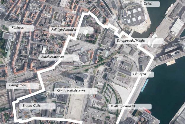 Aarhus gør nu en indsats for at få borgernes input til højhus-politikken for midtbyen. Illustration: Aarhus Kommune.