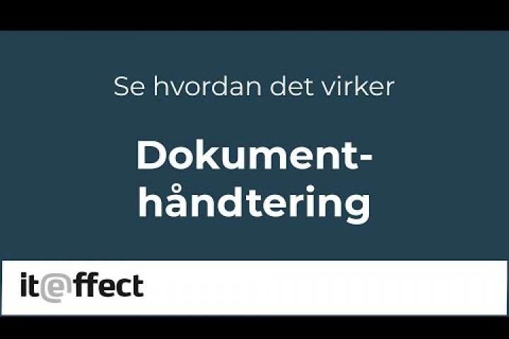 ITE Byg & Anlæg – Dokumentmodul