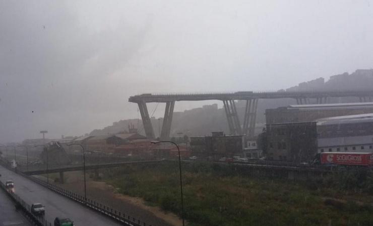 Motorvejsbro kollapset i Italien