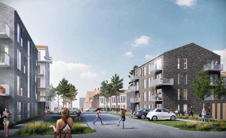 Helsinge får 113 nye boliger i bymidten