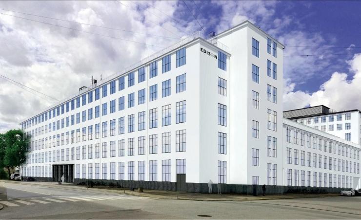 Mediebureau rykker ind i ombygget glødepærefabrik