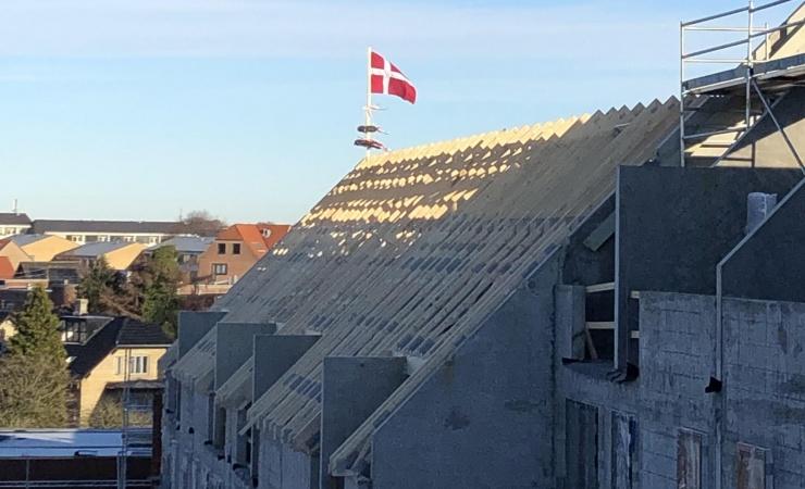 Rejsegilde på Trøjborg-byggeri