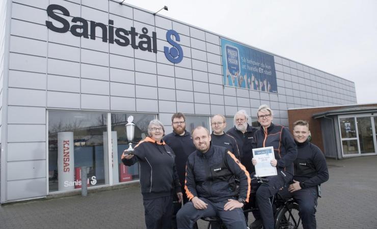 Østjysk butik vinder Sanistål-pris