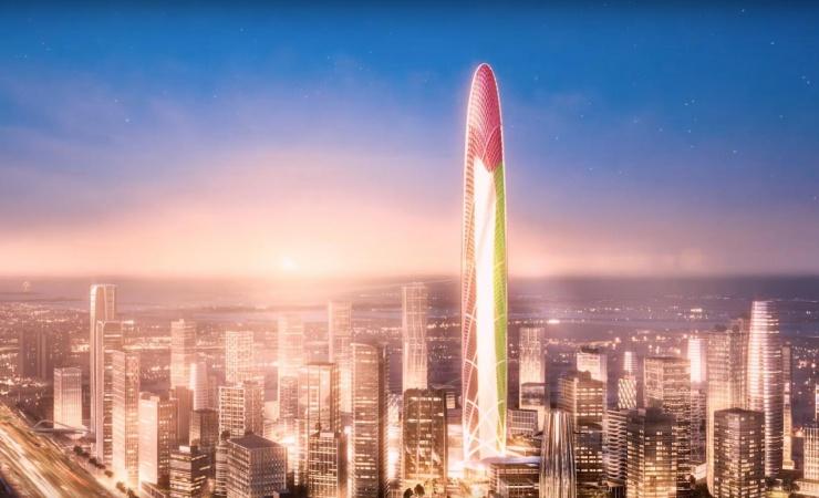 SOM præsenterer første visualisering af gigantisk Dubai-tårn