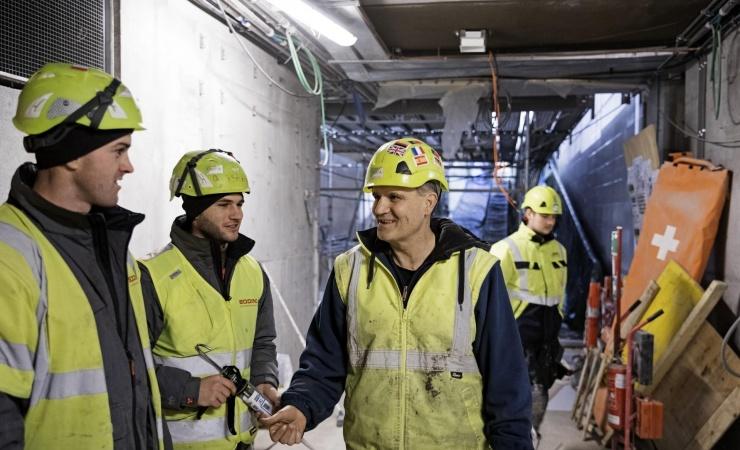 Metro-arbejdere fejrer to år uden ulykker