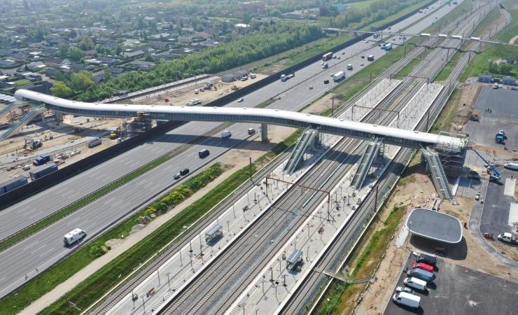 Højhastighedsbane med prisvindende broprojekter