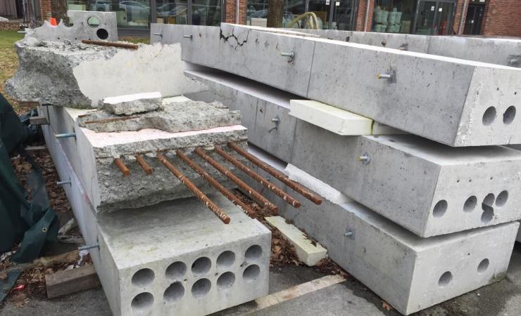 Knust beton giver point på CO2-kontoen