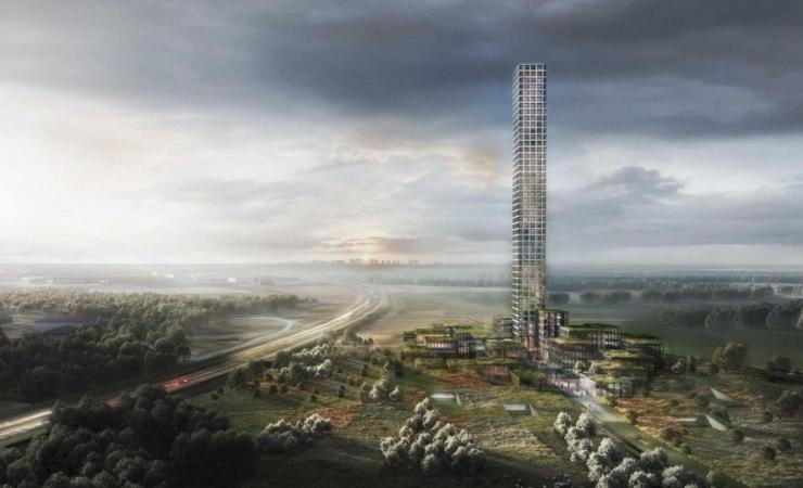 Modekoncern sætter 320 meter skyskraber i bero