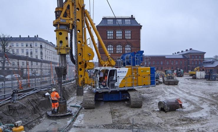 Underjordiske ydervægge på nyt museum er nu støbt