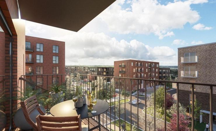 Industriens Pension køber 159 nyopførte boliger i Aarhus