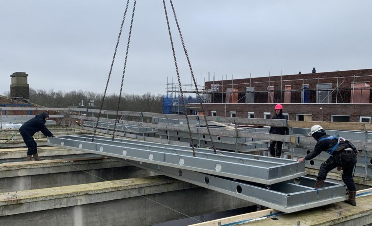 Nyt stålgulv med stor spændvidde og lav vægt