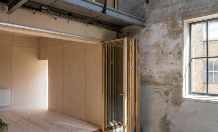 Nye boliger opføres inde i gammel fabrik