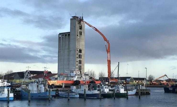 Kertemindes gamle vartegn brydes ned og gør plads til ny havnebydel