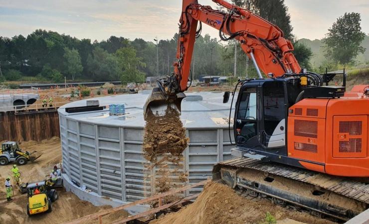 NCC når vigtig milepæl for regnvandsprojekt og ruinpark