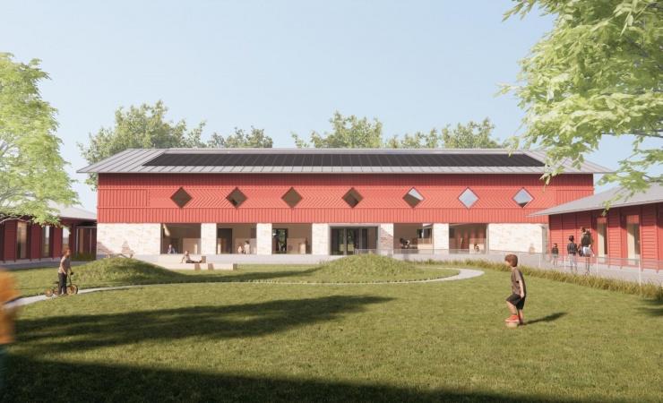 Børnehuset Grønnegården bliver ét stort CO2-lager
