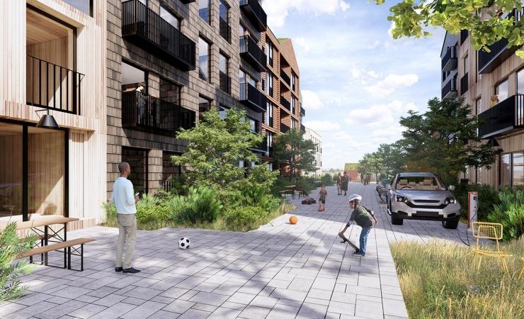 Byggeplads begynder at tage form ved Vejlands Kvarter