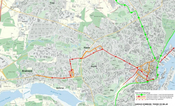 Planlægningen af Letbanens etape 2 skal på skinner