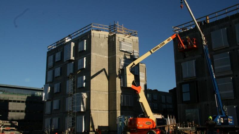 Byggeriet nærmer sig finanskriseniveau