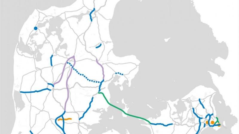 Bornholm og dele af Syddanmark forbigået i ny infrastrukturplan