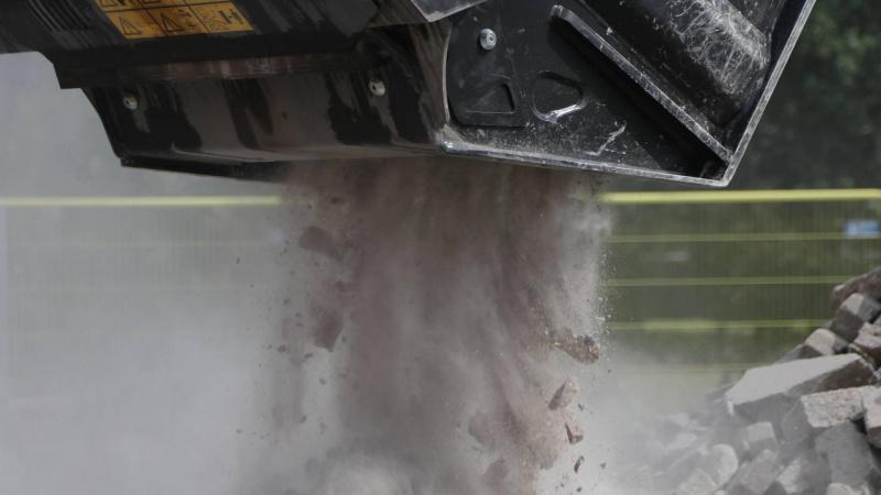 Finstof fra nedknust beton giver problemer