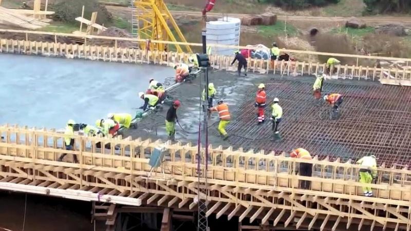 VIDEO: Betonbro støbt på én dag